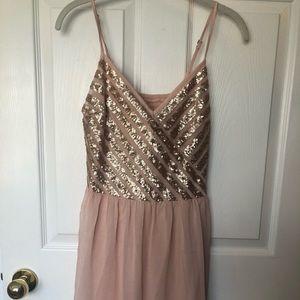 Hollister Blush Sequin Dress